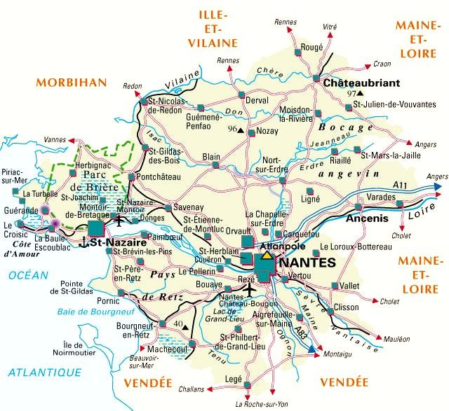 Loire atlantique d partement 44 voyages cartes - Office de tourisme de loire atlantique ...