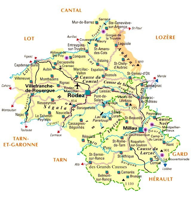 Carte Departement Aveyron (12)