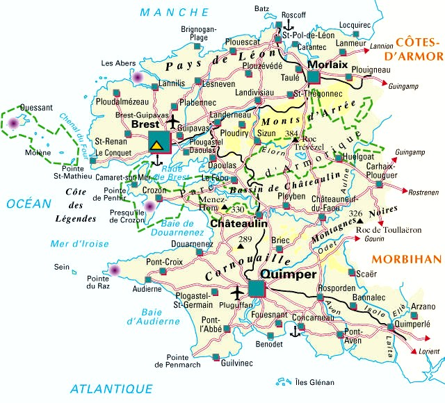 Carte Departement Finistere (29)