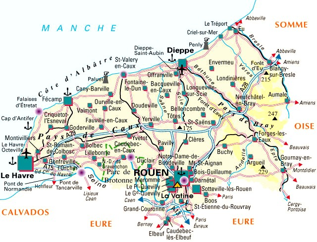 Carte Departement Seine Maritime (76)